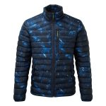 Zenon Mens Down Jacket Blue Camo
