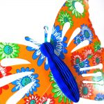 multi-colour butterfly with honeycomb paper body – 28 x 40cm
