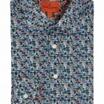 Beetles Print Blue Shirt