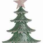 14cm Mint Green Tree Decoration