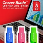 SanDisk Cruzer Blade USB Flash Drive 8GB – 3-Pack