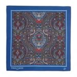 Paisley Pocket Square Navy