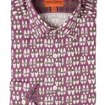 Shoe Print Purple Shirt