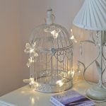 Shabby Chic Bird Cage with Butterfly Fairy Lights, 26cm