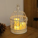 Shabby Chic Bird Cage with Wax Candles, 26cm