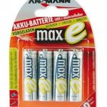 Ansmann maxE AA Pre-Charged Batteries – Pack of 4