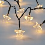 Star Battery Fairy Lights with Timer, 50 Warm White LEDs