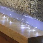 4.5m Plug In Silver Wire Micro Fairy Lights, 50 LEDs