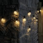 4.5m Clear Cap Battery Party Festoon Lights, 10 Warm White LEDs