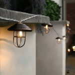 Outdoor Metal Lantern Battery Fairy Lights, 10 Warm White LEDs, 3m