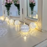 White Moroccan Battery Ball Fairy Lights, 10 Warm White LEDs