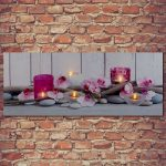 Premier Purple Tea Light Canvas Scenes 40 x 100cm