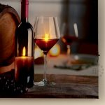 Premier Barrel & Wine Scene Canvas Print with LED Lights, 30 x 40cm