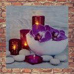 Premier Orchid Canvas LED Print with LED's, 30 x 30 cm