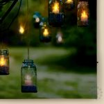Premier Hanging Glass Jar Scene Canvas LED Print, 30 x 40 cm