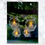 Hanging Glass Bowl Scene Canvas LED Print, 30 x 40 cm