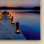 Jetty Scene Canvas LED Print, 40 x 60 cm