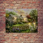 Premier Battery Country Cottage Canvas Scene, 40 x 30cm