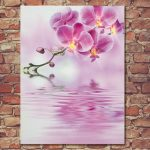 Premier Battery Pink Orchid Canvas Scene, 30 x 40cm
