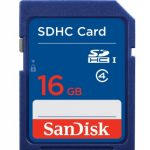 SanDisk Secure Digital Card (SDHC) CLASS 4 – 16GB