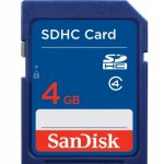 SanDisk Secure Digital Card (SDHC) CLASS 4 – 4GB