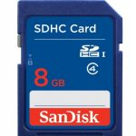 SanDisk Secure Digital Card (SDHC) CLASS 4 – 8GB