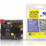Brother LC-970Y/LC-1000Y Yellow Compatible Ink Cartridge by JetTec – B10Y