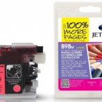 Brother LC980 Magenta Compatible Ink Cartridge by JetTec – B98M