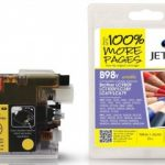 Brother LC980 Yellow Compatible Ink Cartridge by JetTec – B98Y