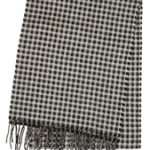 Merino Wool Honeycomb Black Scarf