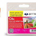 Canon BCI-3/6 Magenta Remanufactured Ink Cartridge by JetTec – C6M