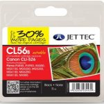 Canon CLI-526 Black Remanufactured Ink Cartridge by JetTec – CL56B