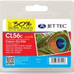 Canon CLI-526 Cyan Remanufactured Ink Cartridge by JetTec – CL56C