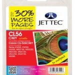 Canon CLI-526 CMY Remanufactured Ink Cartridge by JetTec – CL56CMY