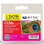Canon CLI-526 Magenta Remanufactured Ink Cartridge by JetTec – CL56M