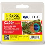 Canon CLI-526 Yellow Remanufactured Ink Cartridge by JetTec – CL56Y