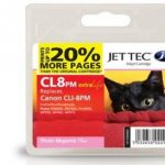Canon CLI-8PM PHOTO Magenta Remanufactured Ink Cartridge by JetTec – CL8PM