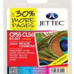Canon PGI-525 & CLI-526 BCMY Remanufactured Ink Cartridge by JetTec – CP55B CL56BCMY