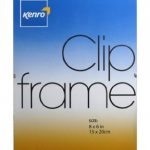 Kenro Glass Fronted Clip Photo Frame 8×6″ / 20x15cm