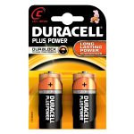 Duracell Alkaline Batteries – C (Type) Pack of 2