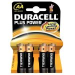 Duracell Alkaline Batteries – AA Pack of 4