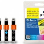 Epson T044 B/C/M/Y Ink MULTIPACK Remanufactured Ink Cartridge by JetTec – E44