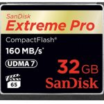 SanDisk Extreme Pro 160MB/sec Compact Flash Card – 32GB