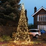 4.2m FairyBell Outdoor Pre-lit Tree, 640 Warm White LEDs