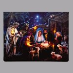 Fibre Optic Nativity Print 40 x 30 cm