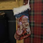 48cm Fibre Optic Santa Stocking Christmas Decoration, Colour Changing LEDs