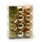 24 x 60MM CLASSIC GOLD ASST FINISH SHATTERPROOF BAUBLES