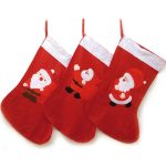 Red and White Santa Stocking