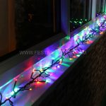 3m Multi Colour Cluster Lights, 280 LEDs, Green Cable