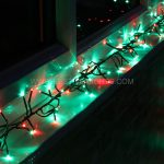 6m Red & Green Cluster Lights, 480 LEDs, Green Cable